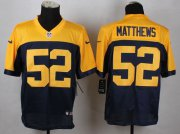 Wholesale Nike Packers #52 Clay Matthews Navy Blue Alternate Men's Stitched NFL New Elite Jersey