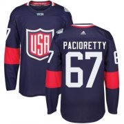 Wholesale Cheap Team USA #67 Max Pacioretty Navy Blue 2016 World Cup Stitched Youth NHL Jersey