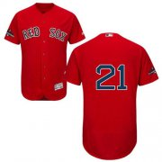 Wholesale Cheap Red Sox #21 Roger Clemens Red Flexbase Authentic Collection 2018 World Series Champions Stitched MLB Jersey