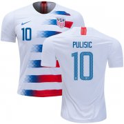 Wholesale Cheap USA #10 Pulisic Home Soccer Country Jersey