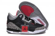 Wholesale Cheap Kids Air Jordan 3 Retro Basketball shoes black/white-cement-red