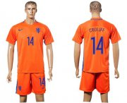 Wholesale Cheap Holland #14 Cruijff Home Soccer Country Jersey