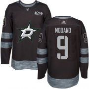 Wholesale Cheap Adidas Stars #9 Mike Modano Black 1917-2017 100th Anniversary Stitched NHL Jersey