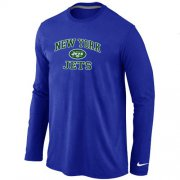 Wholesale Cheap Nike New York Jets Heart & Soul Long Sleeve T-Shirt Blue