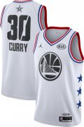 Wholesale Cheap Jordan Men's 2019 NBA All-Star Game #30 Steph Curry White Dri-FIT Swingman Jersey