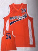 Wholesale Cheap Harlem Buckets 34 O'Neal Orange Uncle Drew Movie Basketball Jersey