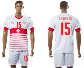 Wholesale Cheap Switzerland #15 Derdiyok Away Soccer Country Jersey