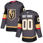 Wholesale Cheap Men's Adidas Vegas Golden Knights Personalized Authentic Gray Home NHL Jersey