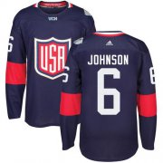 Wholesale Cheap Team USA #6 Erik Johnson Navy Blue 2016 World Cup Stitched NHL Jersey