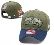 Wholesale Cheap NFL Seahawks Team Logo Olive Peaked Adjustable Hat Q56