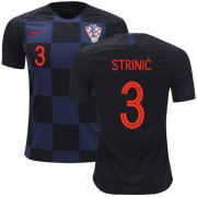Wholesale Cheap Croatia #3 Strinic Away Soccer Country Jersey