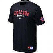 Wholesale Cheap Chicago Cubs Nike Short Sleeve Practice MLB T-Shirt Black