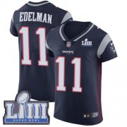 Wholesale Cheap Nike Patriots #11 Julian Edelman Navy Blue Team Color Super Bowl LIII Bound Men's Stitched NFL Vapor Untouchable Elite Jersey