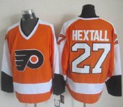Wholesale Cheap Flyers #27 Ron Hextall Orange/White CCM Throwback Stitched NHL Jersey