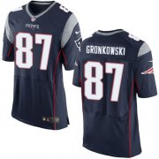 Wholesale Nike Patriots #87 Rob Gronkowski Navy Blue Team Color Men's Stitched NFL New Elite Jersey