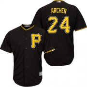 Wholesale Cheap Pirates #24 Chris Archer Black Cool Base Stitched Youth MLB Jersey