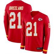 Wholesale Cheap Men's Chiefs #21 Bashaud Breeland Red Team Color Men's Stitched NFL Limited Therma Long Sleeve Jersey