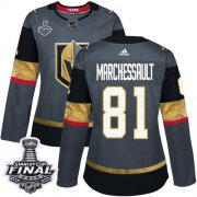 Wholesale Cheap Adidas Golden Knights #81 Jonathan Marchessault Grey Home Authentic 2018 Stanley Cup Final Women's Stitched NHL Jersey