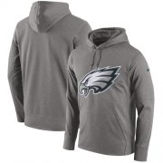 Wholesale Cheap Men's Philadelphia Eagles Nike Heathered Gray Performance Circuit Logo Essential Hoodie