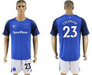 Wholesale Cheap Everton #23 Coleman Home Soccer Club Jersey