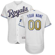 Wholesale Cheap Kansas City Royals Majestic Alternate Authentic Collection Flex Base Custom Jersey White