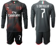 Wholesale Cheap AC Milan #7 S.Castillejo Third Long Sleeves Soccer Club Jersey
