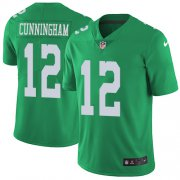 Wholesale Cheap Nike Eagles #12 Randall Cunningham Green Youth Stitched NFL Limited Rush Jersey