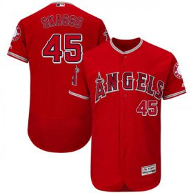 Wholesale Cheap Angels of Anaheim #45 Tyler Skaggs Red Flexbase Authentic Collection Stitched MLB Jersey
