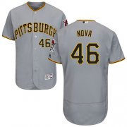 Wholesale Cheap Pirates #46 Ivan Nova Grey Flexbase Authentic Collection Stitched MLB Jersey