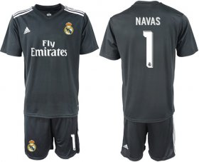 Wholesale Cheap Real Madrid #1 Navas Away Soccer Club Jersey