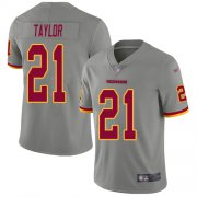 Wholesale Cheap Nike Redskins #21 Sean Taylor Gray Men's Stitched NFL Limited Inverted Legend Jersey