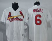 Wholesale Cheap Cardinals #6 Stan Musial White New Cool Base Stitched MLB Jersey