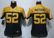 Wholesale Cheap Nike Packers #52 Clay Matthews Navy Blue Alternate Women's Stitched NFL New Limited Jersey