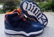Wholesale Cheap Kids Air Jordan 11 Shoes Blue/orange-white