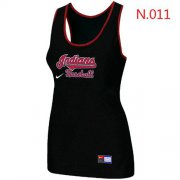Wholesale Cheap Women's Nike Cleveland Indians Tri-Blend Racerback Stretch Tank Top Black