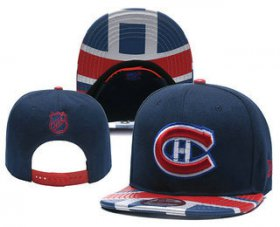 Wholesale Cheap Montreal Canadiens Snapback Ajustable Cap Hat YD