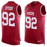Wholesale Cheap Nike 49ers #92 Kerry Hyder Red Team Color Men's Stitched NFL Limited Tank Top Jersey