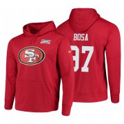Wholesale Cheap San Francisco 49ers #97 Nick Bosa Nike NFL 100 Primary Logo Circuit Name & Number Pullover Hoodie Scarlet