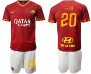 Wholesale Cheap Roma #20 Fazio Red Home Soccer Club Jersey