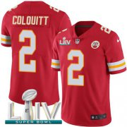 Wholesale Cheap Nike Chiefs #2 Dustin Colquitt Red Super Bowl LIV 2020 Team Color Youth Stitched NFL Vapor Untouchable Limited Jersey