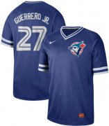 Wholesale Cheap Nike Blue Jays #27 Vladimir Guerrero Jr. Royal Authentic Cooperstown Collection Stitched MLB Jersey
