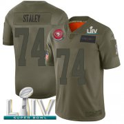 Wholesale Cheap Nike 49ers #74 Joe Staley Camo Super Bowl LIV 2020 Men's Stitched NFL Limited 2019 Salute To Service Jersey