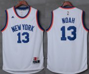 Wholesale Cheap Knicks #13 Joakim Noah New White Stitched NBA Jersey