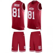 Wholesale Cheap Nike 49ers #81 Terrell Owens Red Team Color Men's Stitched NFL Limited Tank Top Suit Jersey