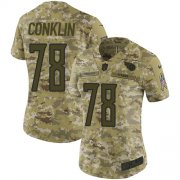 Wholesale Cheap Nike Titans #78 Jack Conklin Camo Women's Stitched NFL Limited 2018 Salute to Service Jersey