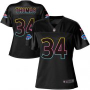 Wholesale Cheap Nike Bills #34 Thurman Thomas Black Women's NFL Fashion Game Jersey