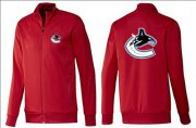 Wholesale Cheap NHL Vancouver Canucks Zip Jackets Red