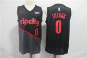 Wholesale Cheap Men's Portland Trail Blazers 0 Damian Lillard Nike Black 2019 Swingman City Edition Jersey