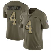 Wholesale Cheap Nike Rams #4 Greg Zuerlein Olive/Camo Youth Stitched NFL Limited 2017 Salute to Service Jersey