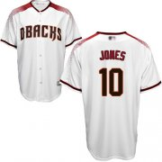 Wholesale Cheap Diamondbacks #10 Adam Jones White/Crimson Home Stitched Youth MLB Jersey
